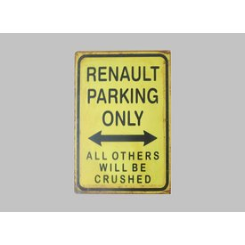 Parking Sign Renault 30x40 cm yellow / black
