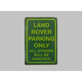 Parking sign Land Rover 20x30 cm green / bright green