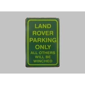 Parking sign Land Rover 20x30 cm groen / lichtgroen