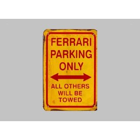 Parking Sign Ferrari 20x30 cm yellow /red