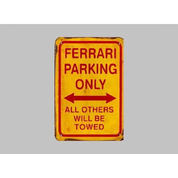 Parking Sign Ferrari 20x30 cm geel / rood