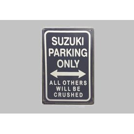 Parking Sign Suzuki 20x30 cm dark blue / white
