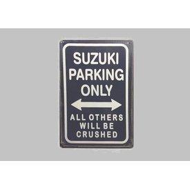 Parking Sign Suzuki 20x30 cm dunkelblau / weiß