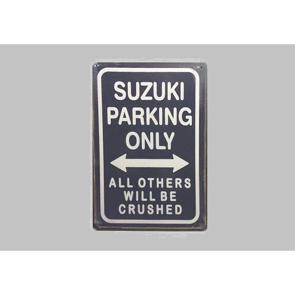 Parking Sign Suzuki 20x30 cm donkerblauw / wit