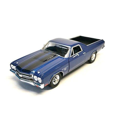 Model car Chevrolet El Camino SS 396 blue 1:24