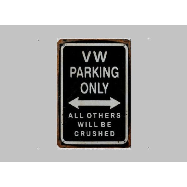 Parking Sign VW 20x30 cm black / silver