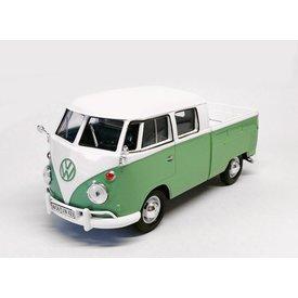 Motormax Volkswagen VW T1 pick-up groen/wit - Modelauto 1:24