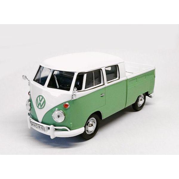 Modelauto Volkswagen T1 pick-up groen/wit 1:24