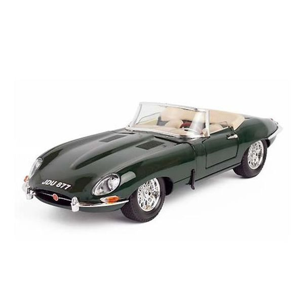 Modelauto Jaguar E-type Cabriolet 1963 groen 1:18   Bburago