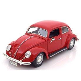 Bburago Volkswagen VW Beetle 1955 red - Model car 1:18