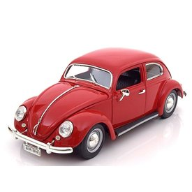 Bburago Volkswagen VW Kever 1955 rood - Modelauto 1:18