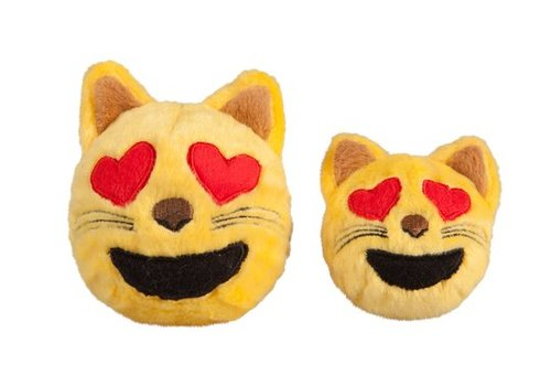 FabDog Cat Heart Eyes Faball hondenknuffel