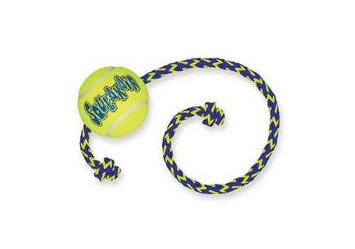 Kong Air Squeaker Tennis Ball met touw