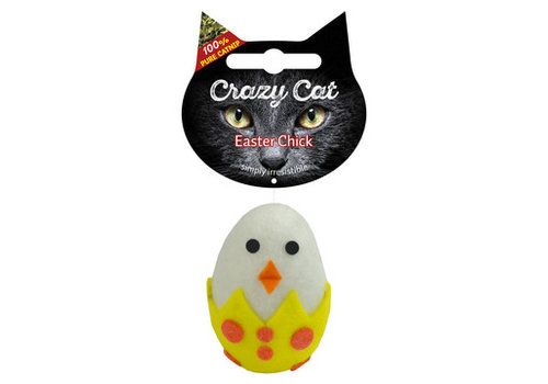 Crazy Cat Easter Chick met catnip