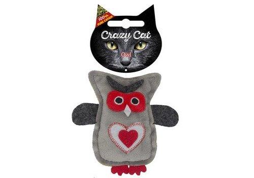 Crazy Cat Owl met catnip