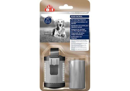 8in1 Pet Products Poop Patrol Dispenser & 30 zakjes