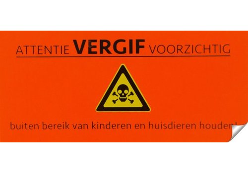 AllesTegenOngedierte.nl Muizen- en ratten gif attentie sticker 10 stuks