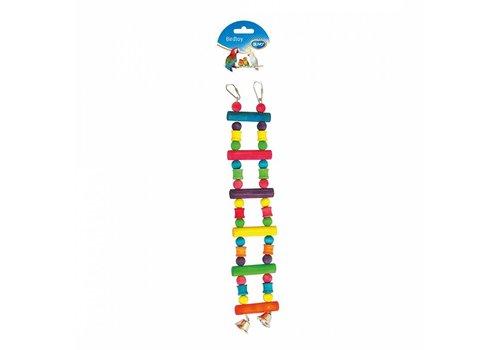 Duvo+ Kleurrijke houten ladder met bel
