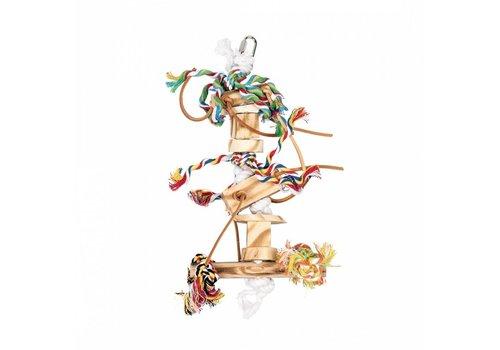 Duvo+ Speeltje van touw, hout en leer