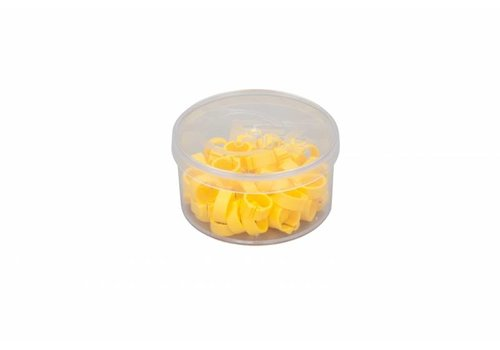 Natural Duivenringen geel 100 stuks