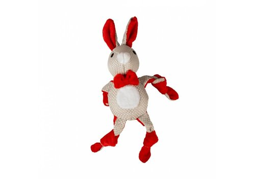 Duvo+ Xmas pluche geknoopt konijn