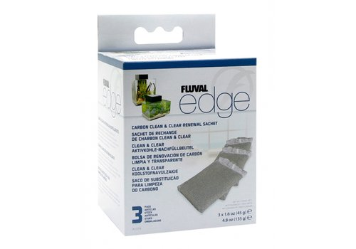 Fluval Edge Koolstoffilter 3 stuks
