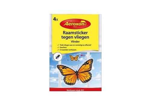 Aeroxon Raamsticker tegen vliegen 4 stuks