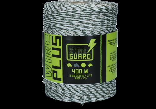 ZoneGuard 3 mm Plus afrasteringsdraad wit en groen