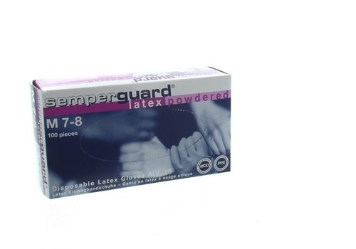 Semper  Guard Latex handschoenen wit 100 stuks Maat S