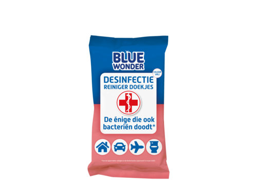 Blue Wonder Desinfectie doekjes 20 stuks