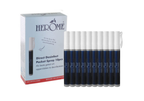 HerOme Desinfect Direct pocket spray 10 stuks