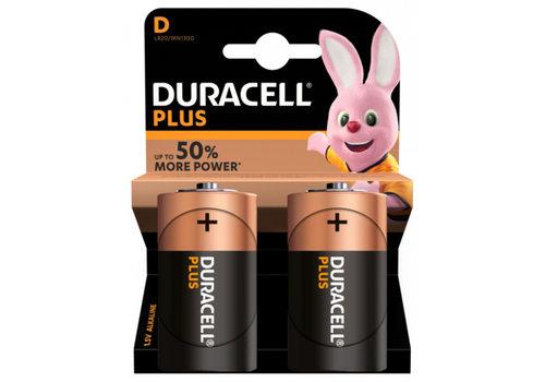Duracell D - batterijen verpakking van 2