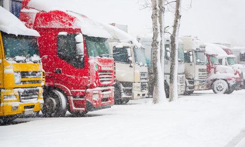 Bezorging bij winterse weersomstandigheden