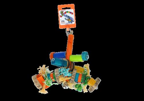 Birrdeeez Bird Toy Small Wood Rope BT-014