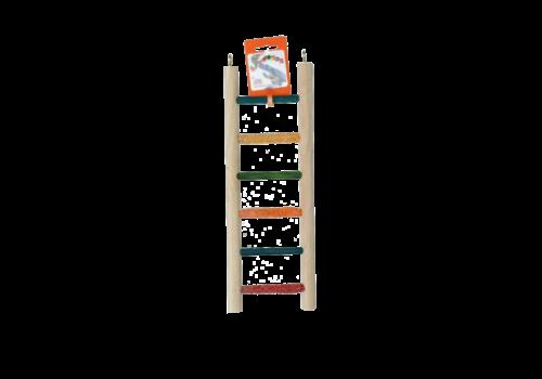 Birrdeeez Cockatiel Ladder 6 step All Wood