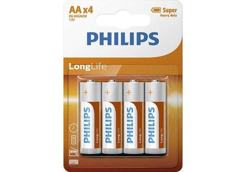 Philips batterijen Longlife AA R6