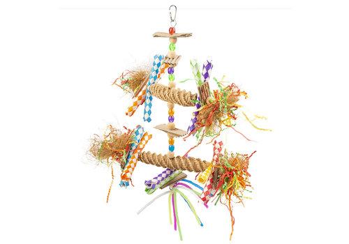 Duvo+ Grote kleurrijke hanger met stro