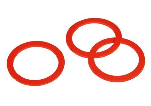 Hiko Plastic ventielring rood