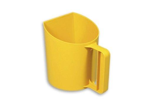 JUNAI Meel/voerschep staand model geel