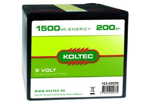 Koltec Batterij 9 Volt 1500 WH 200 Ah
