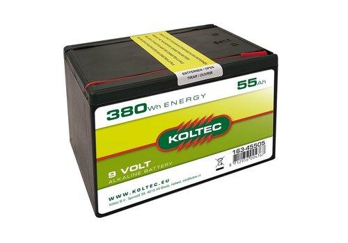 Koltec Batterij 9 Volt 380 WH 55 Ah