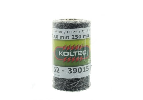 Koltec Zwart schrikdraad 250m ca. 2mm