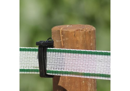 Koltec Wit/groen schriklint 100 meter 40mm