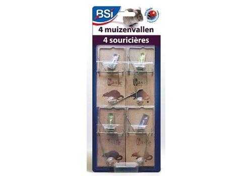 BSI Muizenvallen hout 4 stuks