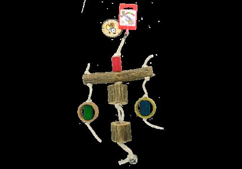 Birrdeeez Sekelbos T-Pillar Leather Parrot Toy
