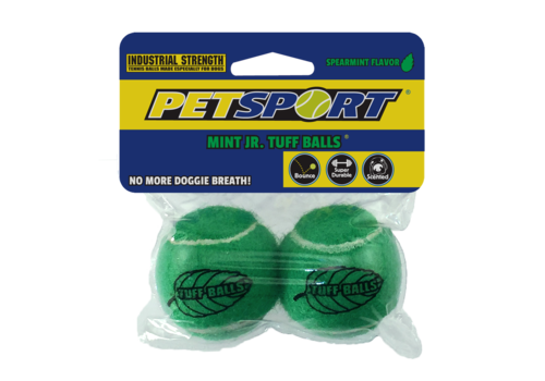 PetSport Tuff Mint Balls 4,5 cm 2 stuks