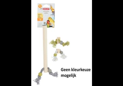 Zolux Zitstok hout met touw