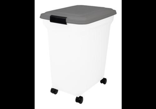 JUNAI Bewaarcontainer Lichtdicht Transparant / Grijs 45 liter