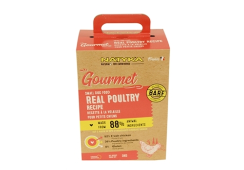 Natyka Gourmet Adult Small Breed Poultry 3 kg