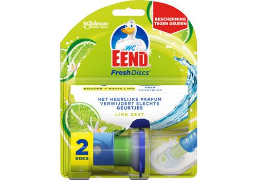 WC eend Fresh Disc houder lime